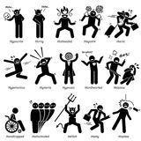 Negative Personalities Character Traits Clipart. Negative personalities traits, attitude, and characteristic. Starting with alphabet H Stock Photos