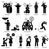 Negative Personalities Character Traits Clipart. Negative personalities traits, attitude, and characteristic. Starting with alphabet I Royalty Free Stock Photography