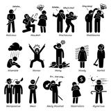 Negative Personalities Character Traits Clipart Stock Photo