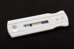 Negative pregnancy test on the black Stock Image