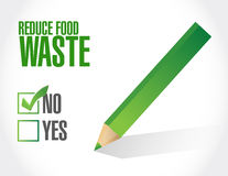 Negative. reduce food waste sign concept Royalty Free Stock Photo