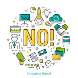 Negative result - linear concept royalty free illustration