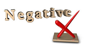 Negative Sign Stock Photo