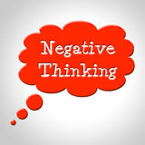 Negative Thinking Bubble Shows Concept Plan And Refusal Royalty Free Stock Image