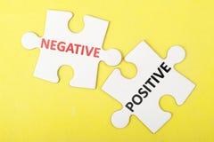 Negative versus positive Photos libres de droits