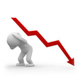 Negatives Diagramm Lizenzfreie Stockfotos