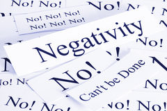 Negativitäts-Konzept Lizenzfreies Stockbild