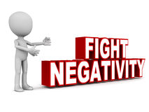 Negativity. Concept of dealing with negativity and passive behavior Stock Photo