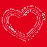 Negativo do amor (vetor) Fotografia de Stock