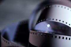 Negativo película de 35 milímetros Filme fotográfico girado Imagens de Stock Royalty Free
