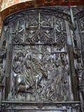 Negativo per la stampa di cartamoneta di Puerta del claustro, de caredral Burgos (Spagna) Immagini Stock