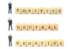 Negativo y neutral positivos Imagen de archivo