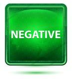 Negativt ljust för neon - grön fyrkantknapp vektor illustrationer