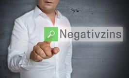 Negativzins i tysk webbläsare för negativt intresse fungeras förbi Arkivbild