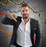 Negatywni firma rezultaty Zdjęcia Stock
