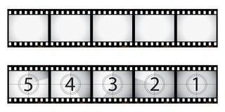 Negazione di pellicola e conto alla rovescia Immagini Stock