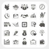 Negócio, ícones da finança ajustados Imagens de Stock Royalty Free