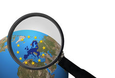 Negócio dentro da União Europeia Fotos de Stock Royalty Free