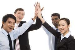 Negócio do grupo - cinco elevados Fotografia de Stock Royalty Free