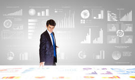 Negócio do mercado Imagens de Stock