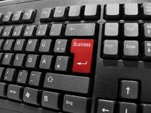Negócio do teclado Imagem de Stock Royalty Free