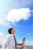 Negócio e conceito de computação da nuvem Fotos de Stock Royalty Free