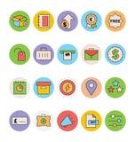 Negócio e ícones coloridos escritório 9 do vetor Foto de Stock