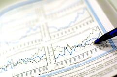 Negócio e relatório financeiro Fotografia de Stock Royalty Free