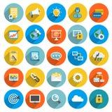 Negócio liso do ícone Imagem de Stock