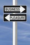 Negócio ou prazer Fotografia de Stock