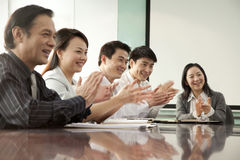 Negócio Team Applauding Imagens de Stock