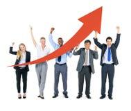 Negócio Team Celebrating Imagens de Stock Royalty Free
