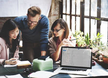 Negócio Team Corporate Marketing Working Concept Fotos de Stock Royalty Free