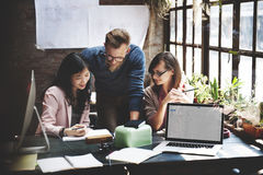 Negócio Team Corporate Marketing Working Concept Foto de Stock