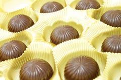 Negen chocolade Royalty-vrije Stock Fotografie