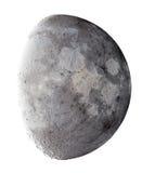 Negen dagen oude Maan - omgekeerd beeld royalty-vrije stock fotografie