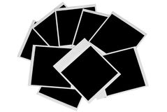 Negen Geïsoleerden Polaroid- Pic Royalty-vrije Stock Fotografie