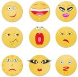 Negen kijken van droevig aan vrolijk. royalty-vrije stock afbeelding