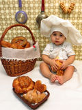 Negen-maand-oude jongen Royalty-vrije Stock Foto's