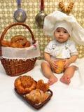 Negen-maand-oude jongen Stock Foto's