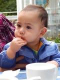 Negen-maand-oude jongen Stock Afbeeldingen