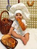 Negen-maand-oude jongen - kok Royalty-vrije Stock Afbeeldingen