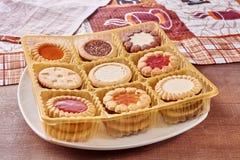 Negen types van koekjes royalty-vrije stock afbeeldingen