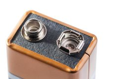 Negen Voltbatterij Royalty-vrije Stock Foto's