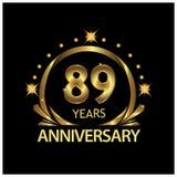 Negenentachtig jaar verjaardags gouden het ontwerp van het verjaardagsmalplaatje voor Web, spel, Creatieve affiche, boekje, pamfl vector illustratie