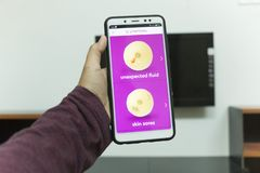 Negeri Sembilan,Malaysia - August 30, 2018: KnowYourLemons application on smartphone. It is a breast health application dedicated. Negeri Sembilan, Malaysia royalty free stock image