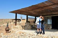 Negev öken - Israel Arkivbilder