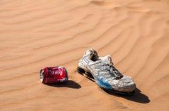NEGEV, ΙΣΡΑΉΛ - 5 ΟΚΤΩΒΡΊΟΥ 2014: Απορρίμματα στην έρημο Negev στοκ φωτογραφίες