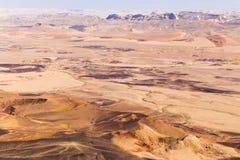 Negev desert crater mountains landscape, Israel. Stock Image