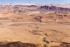 Negev desert crater mountains landscape, Israel. Stock Photography